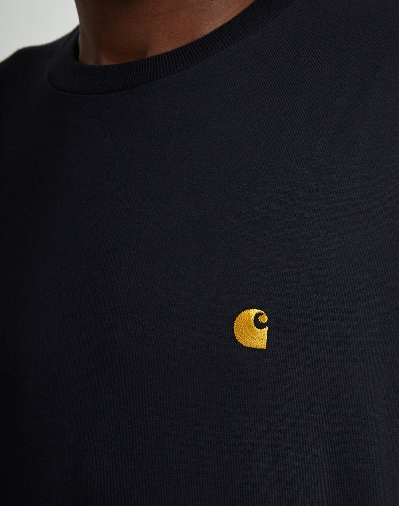 Carhartt WIP - Chase Long Sleeve T-Shirt Navy