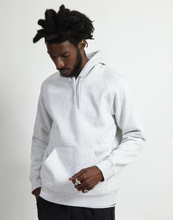 Carhartt WIP - Hooded Chase Sweatshirt Grey Marl