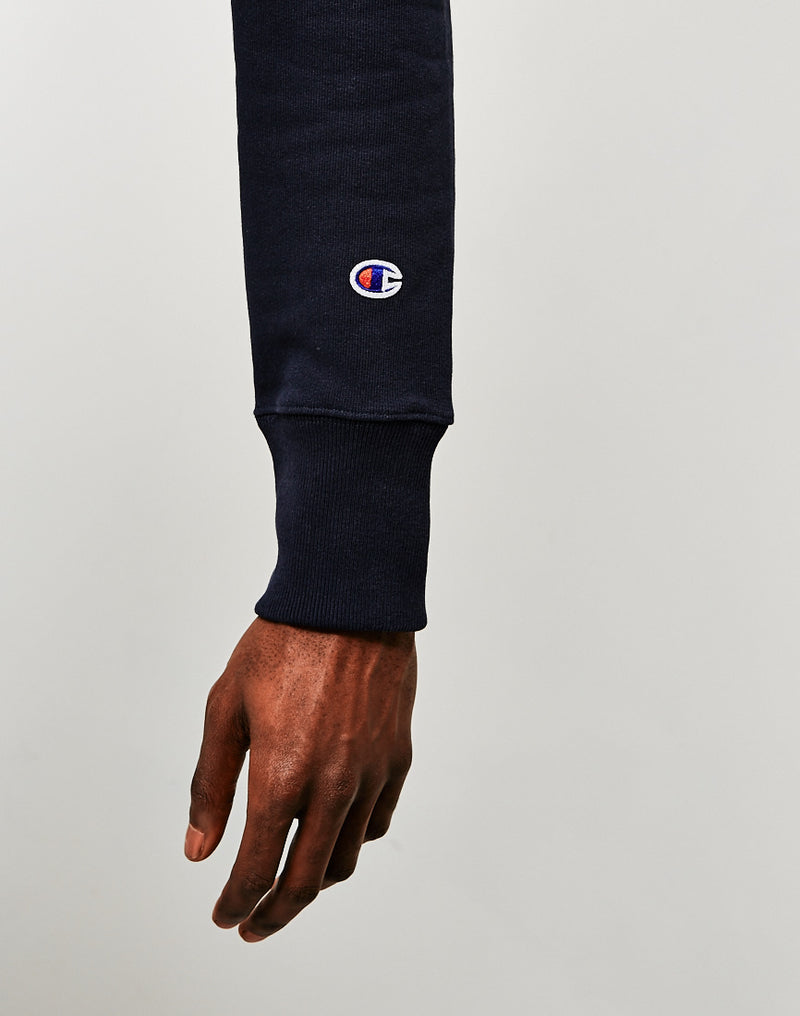 Champion - Reverse Weave Brushed Fleece Sweatshirt Navy