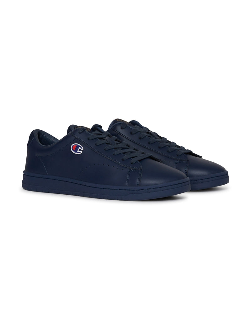 Champion Footwear - 919 Patch Leather Plimsolls Navy