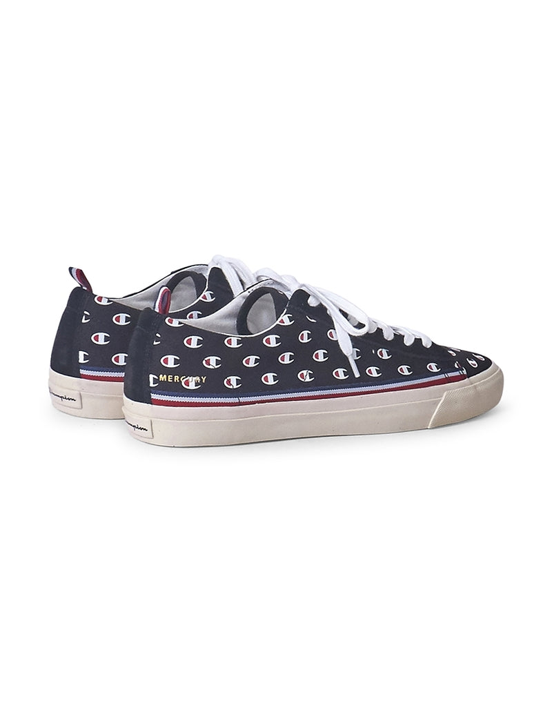 Champion Footwear - Low Cut Mercury Canvas Trainer Black & Print