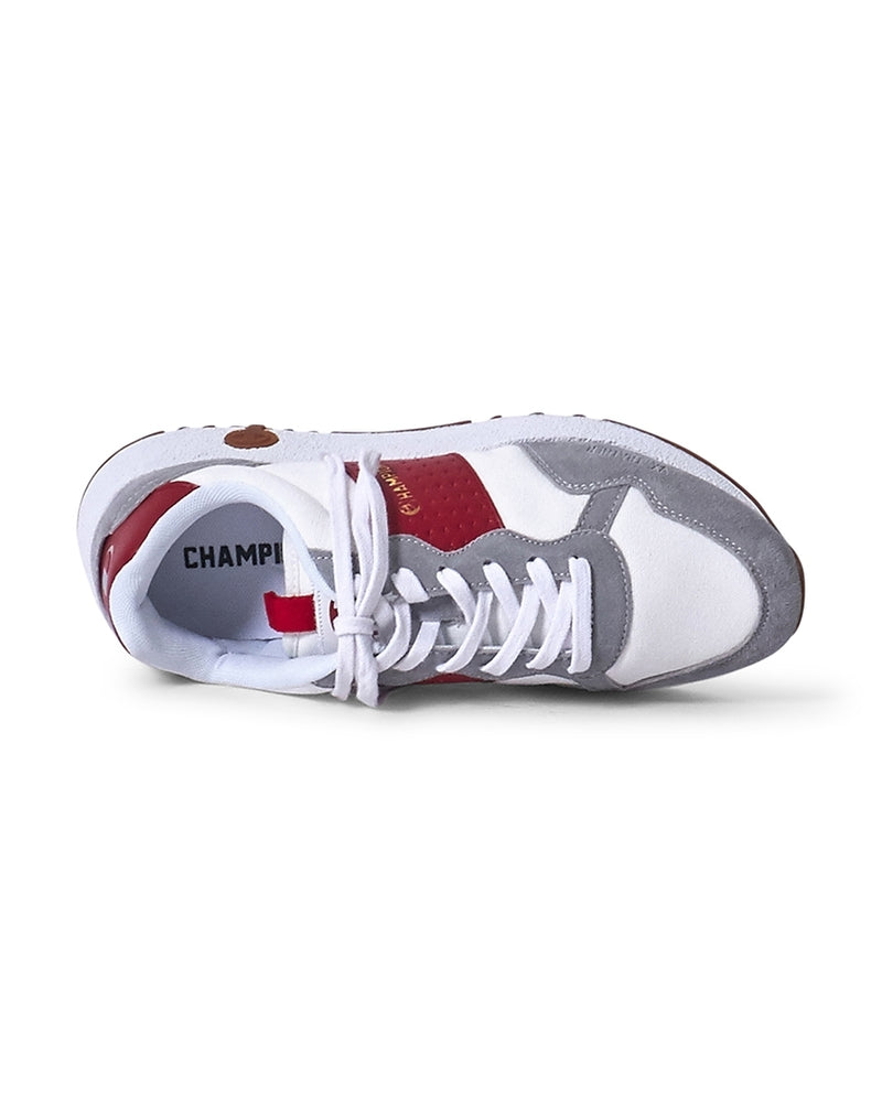 Champion Footwear - Low Cut VX Canvas Trainer White & Red
