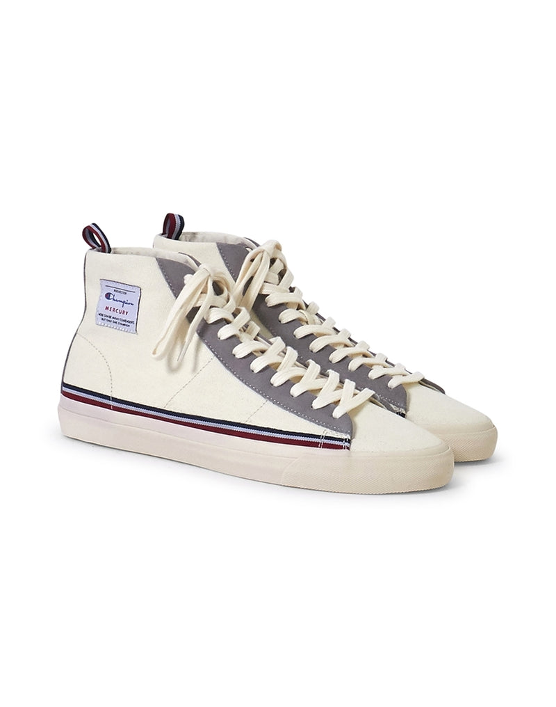 Champion Footwear - Mid Cut Mercury Canvas Trainer White