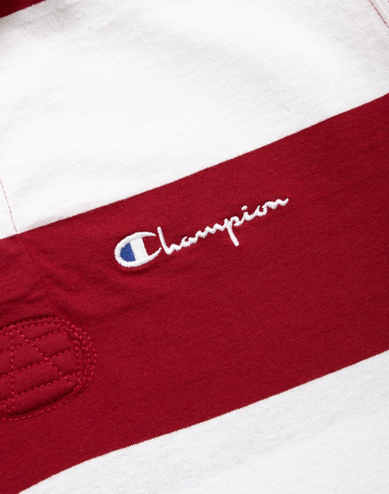 Champion - Long Sleeve Polo T-Shirt Burgundy