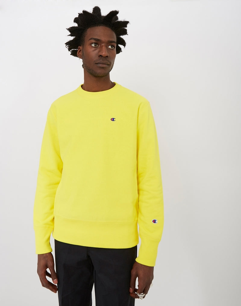 Champion - Reverse Weave Crewneck Sweatshirt Yellow