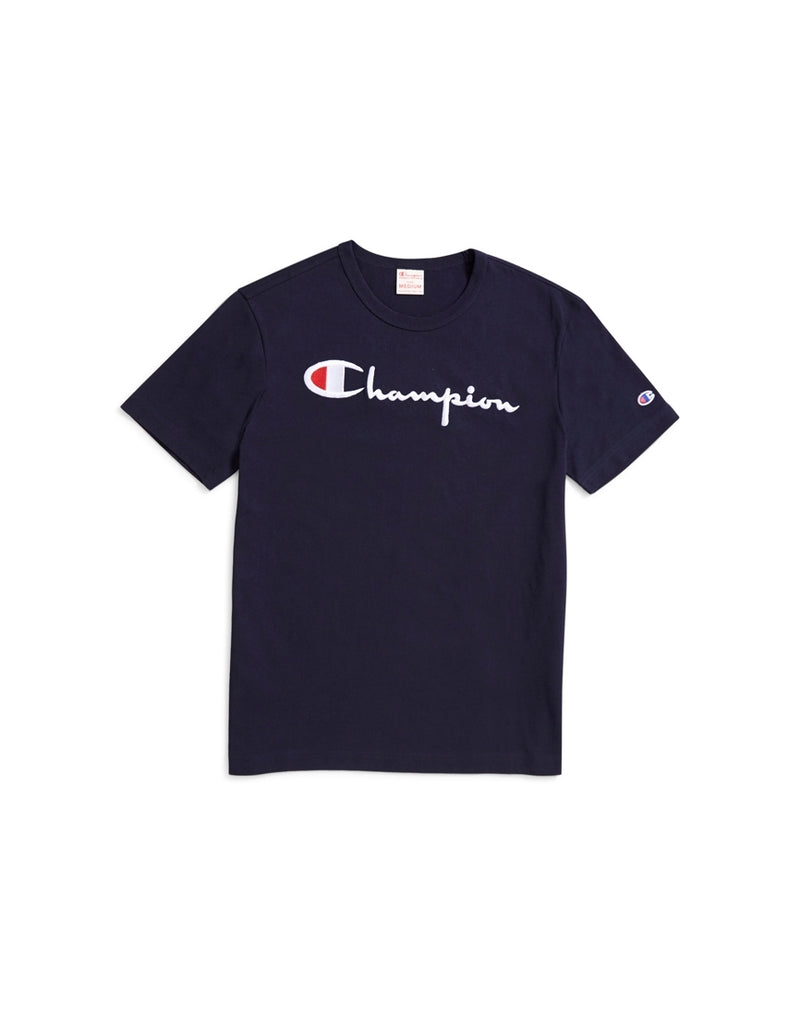 Champion - Reverse Weave Script Logo Short Sleeve T-Shirt Navy