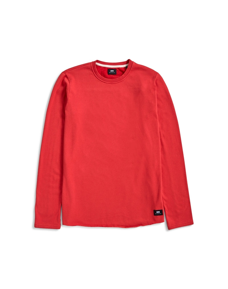 Edwin - Cotton Terry T-Shirt Red