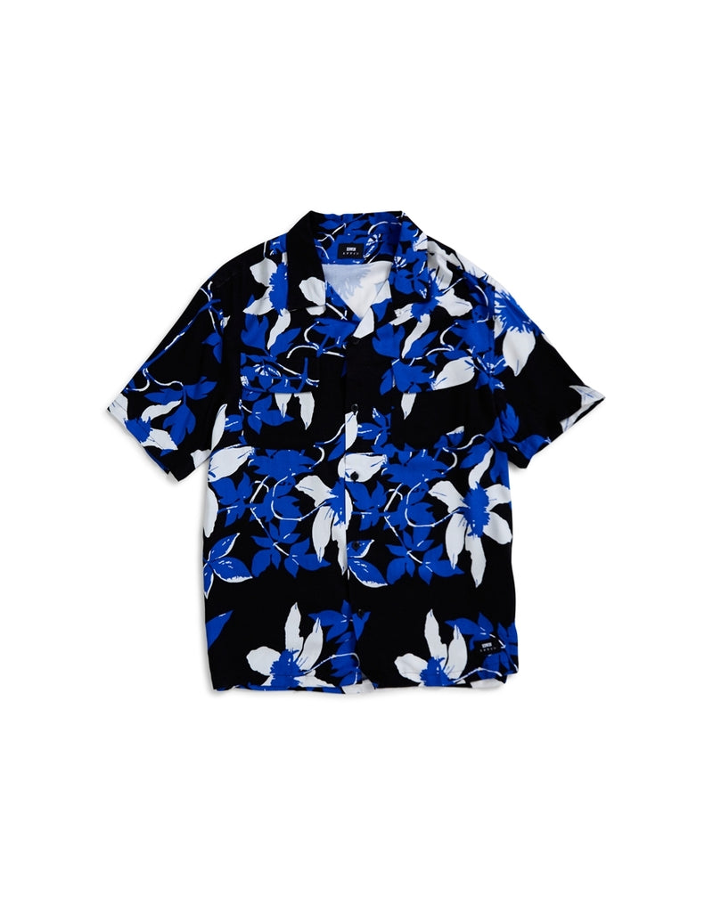 Edwin - Garage Shirt Twill Rayon Floral Allover Blue