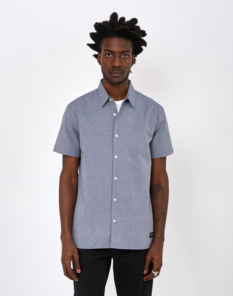 Edwin - Nimes Shirt Dobby Cotton Blue