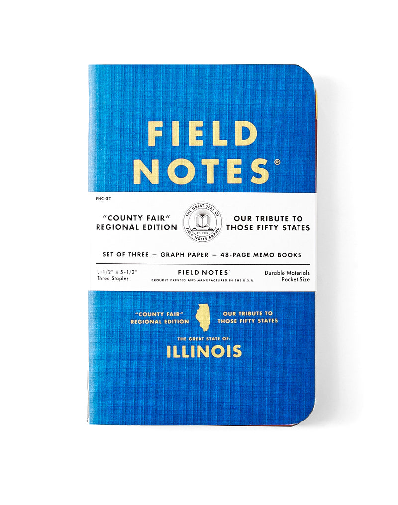 Field Notes - County Fair Illinois State 3-Pack
