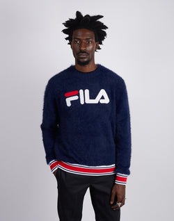 Fila - Cash Eyelash Knit Sweatshirt Navy