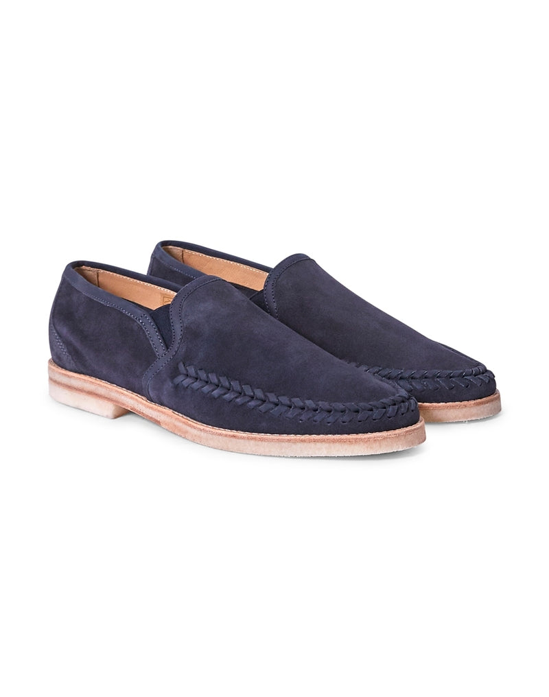 Hudson - Tangier Suede Loafers Navy