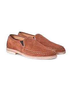 Hudson - Tangier Suede Loafers Tan