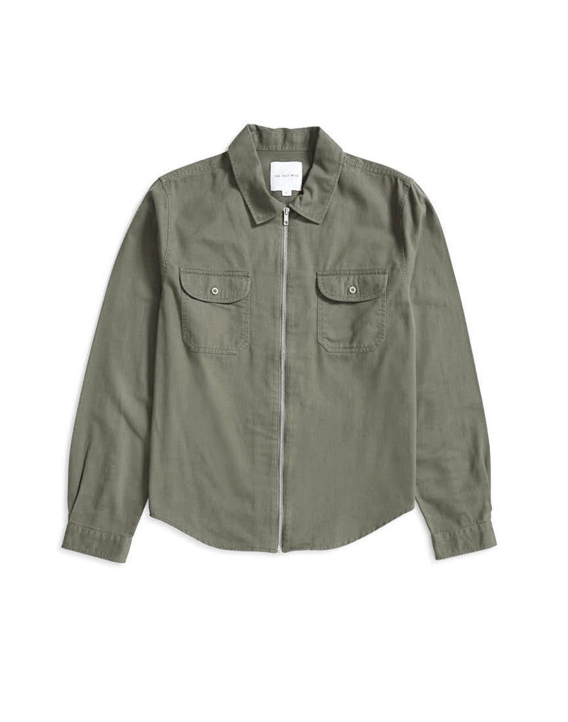 The Idle Man - Zip Overshirt Khaki
