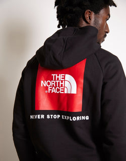 The North Face - Raglan Red Box Hoodie Black
