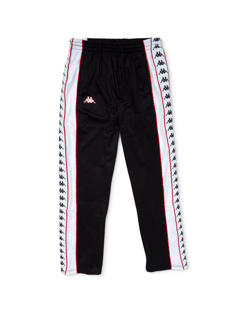 Kappa - Banda Big Bay Pants Black, White & Red