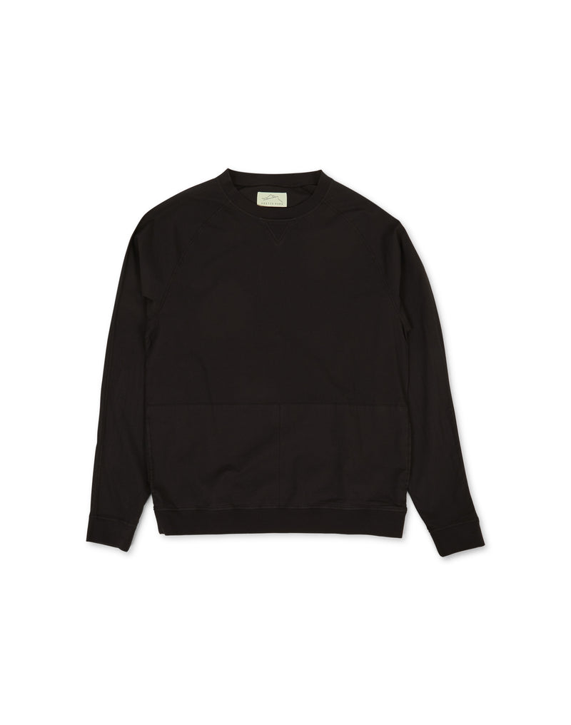 Kestin Hare - Haymarket Woven Sweatshirt With Stretch Charcoal Grey