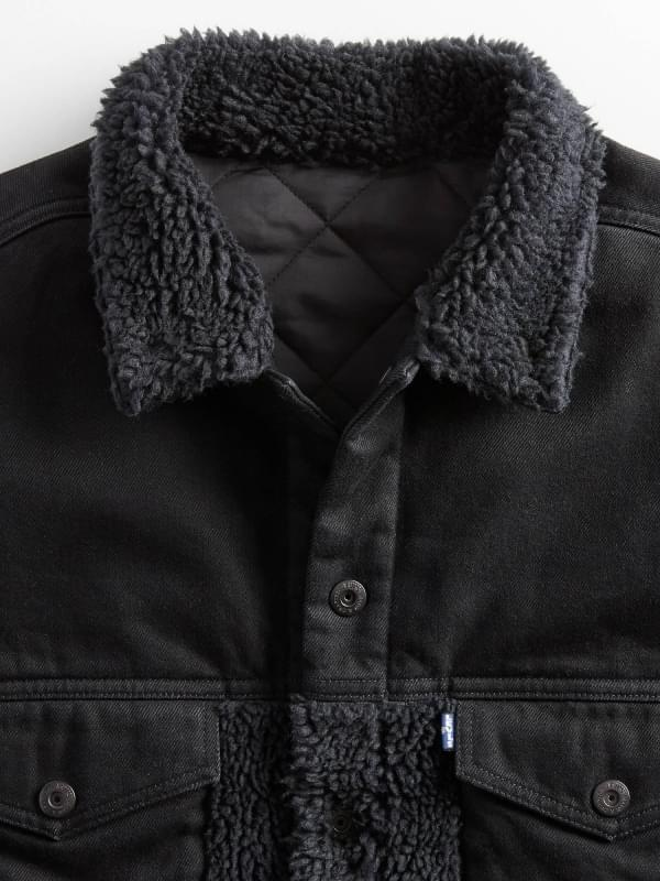 Levi's - Made & Crafted Oversized Sherpa Trucker Jacket Black