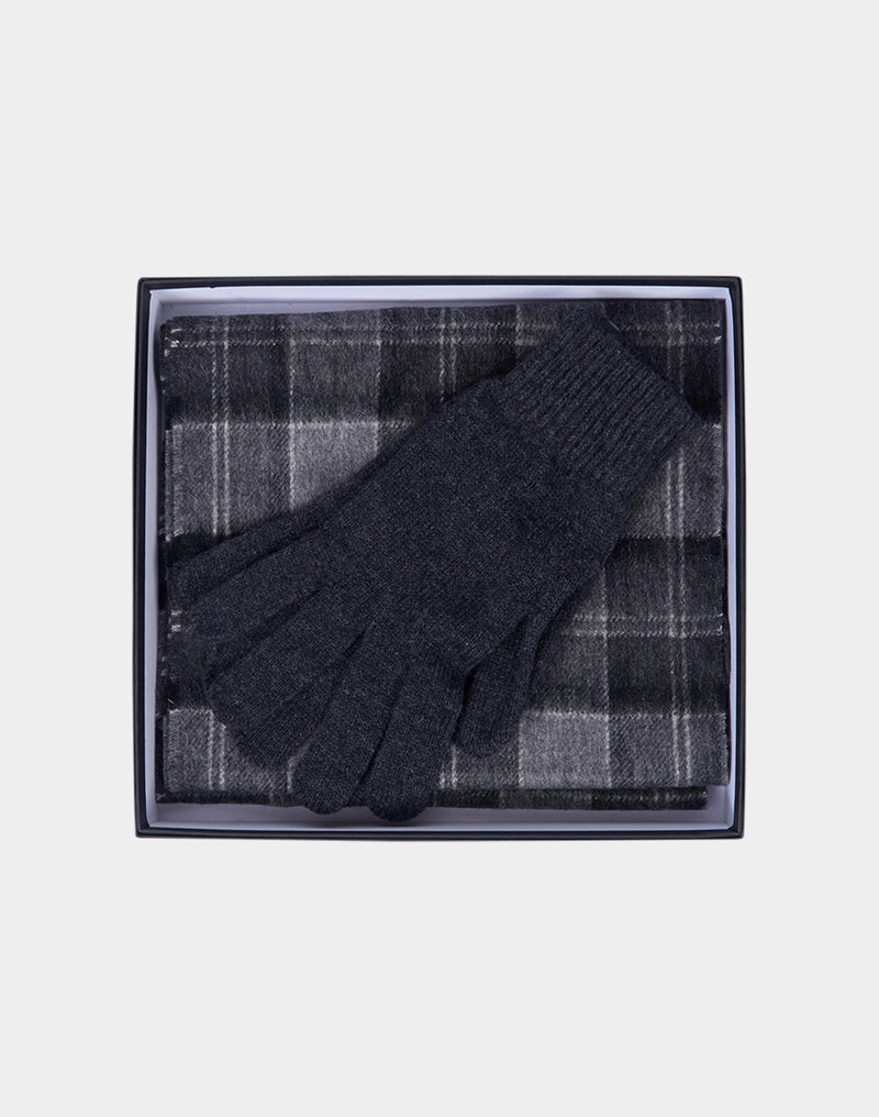 Barbour - Scarf And Glove Gift Black