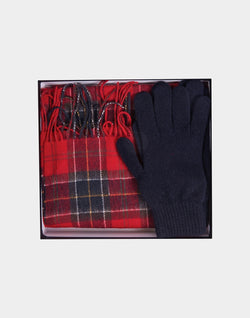 Barbour - Scarf And Glove Gift Red