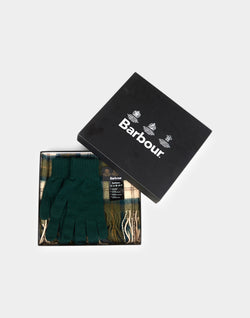Barbour - Scarf & Glove Gift Set Ancient Grey