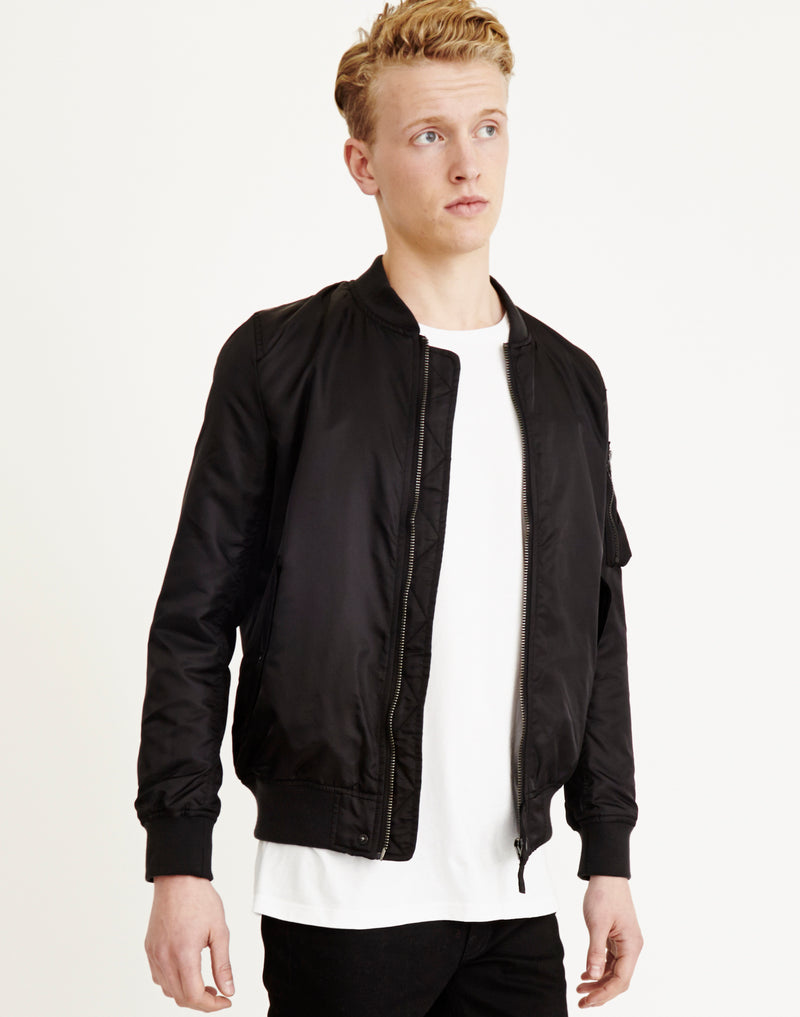 The Idle Man - Padded MA1 Bomber Black