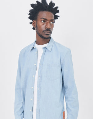 0370c8e99a ... Nudie Jeans Co - Henry Chambray Shirt Blue