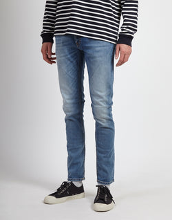 Nudie Jeans Co - Skinny Lin Jeans Slowly Worn Light Blue