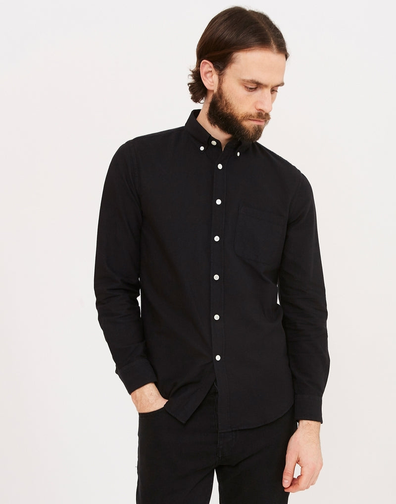 Portuguese Flannel - Belavista Long Sleeve Shirt Black