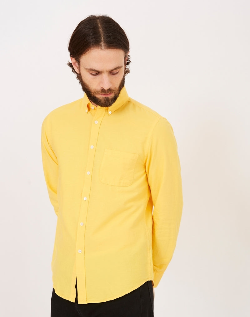 Portuguese Flannel - Belavista Long Sleeve Shirt Yellow