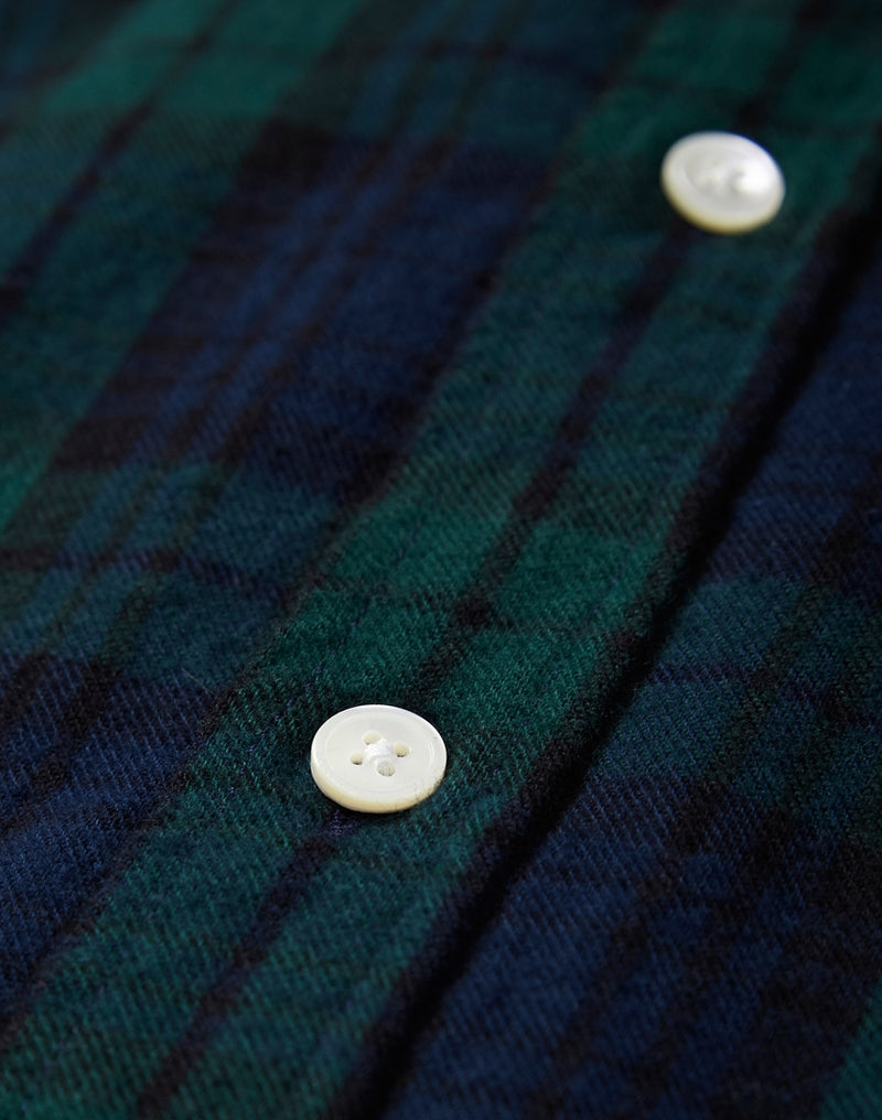 Portuguese Flannel - Bonfim Checked Shirt Green & Blue