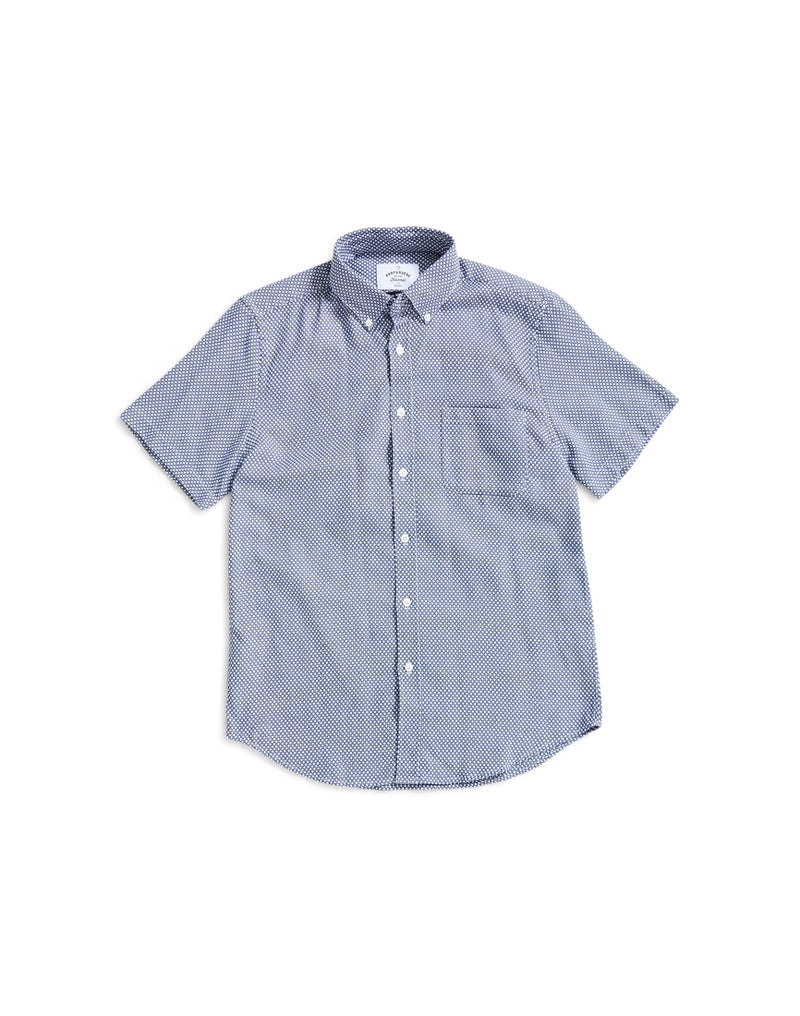 Portuguese Flannel - Carapau Short Sleeve Shirt Blue