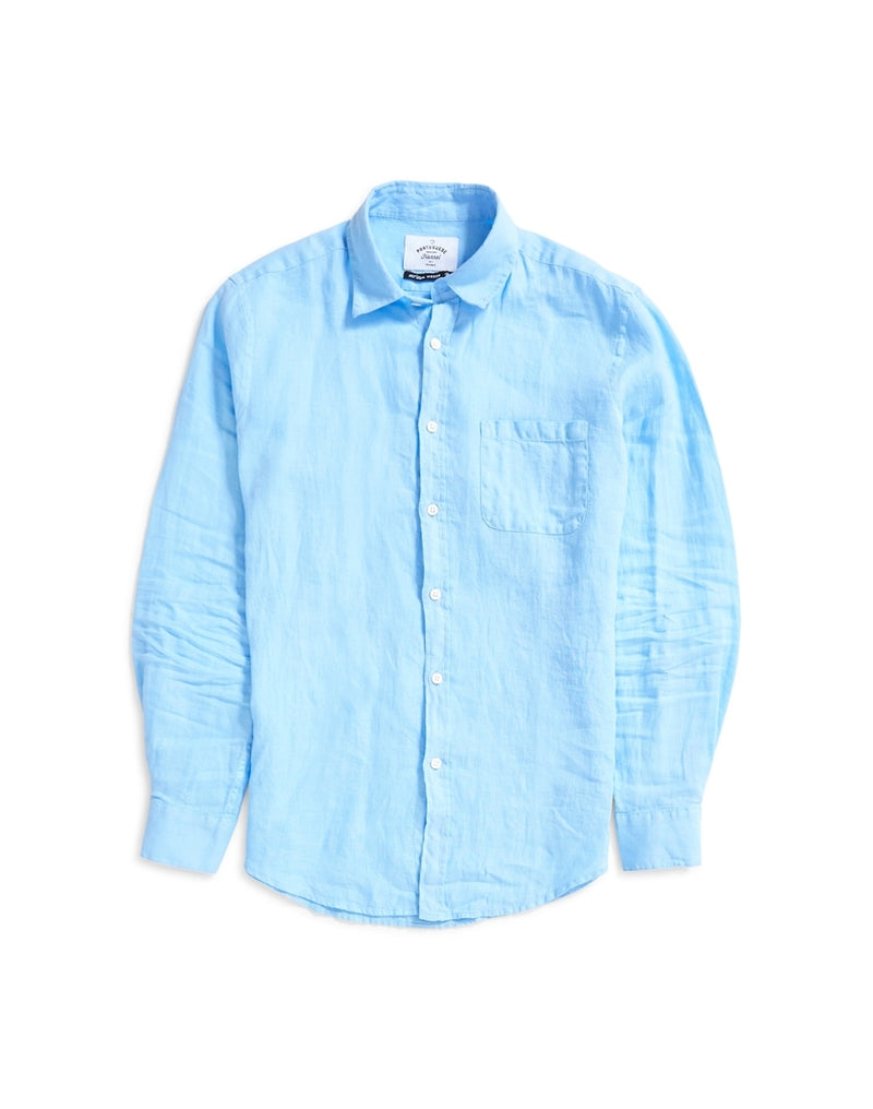 Portuguese Flannel - Linen Long Sleeve Shirt Light Blue