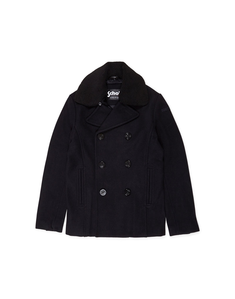 Schott NYC - Cyclone Classic Peacoat With Detachable Borg Collar