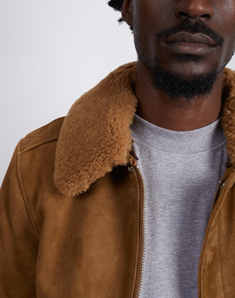 Schott NYC - Suede Pilot Jacket Brown