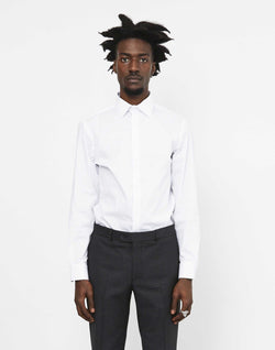The Idle Man - Slim Stretch Shirt White
