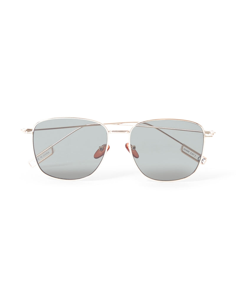 The Idle Man - Square Aviator Sunglasses Gold
