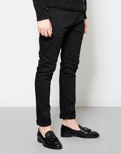 The Idle Man - Stretch Skinny Fit Jeans Black