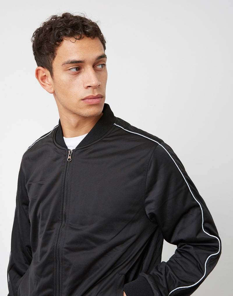 The Idle Man - Bomber Track Jacket Black