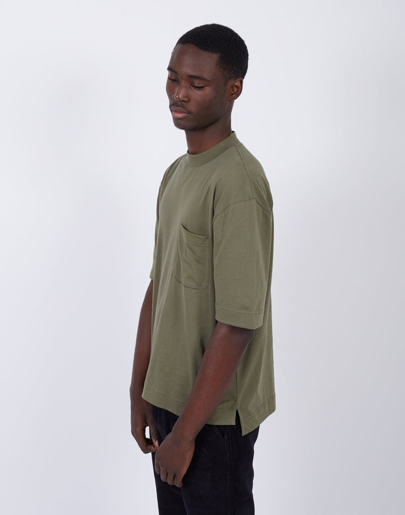 The Idle Man - Boxy Oversize Tee Khaki