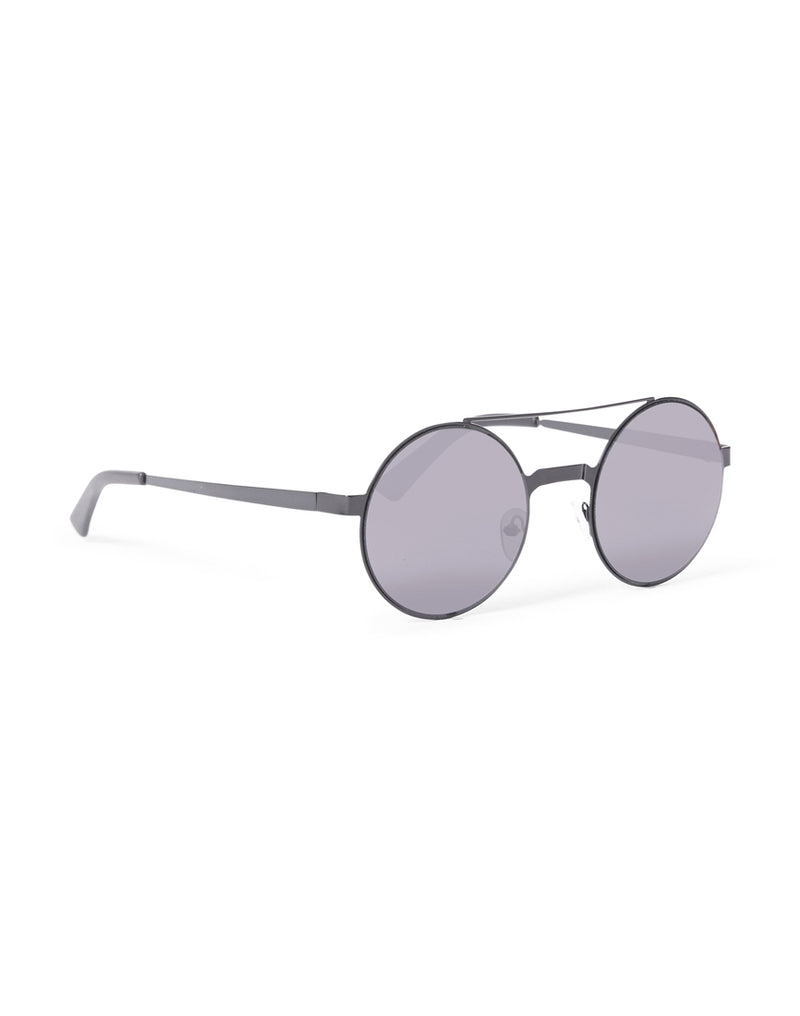 The Idle Man - Brow Bar Round Lens Sunglasses Black
