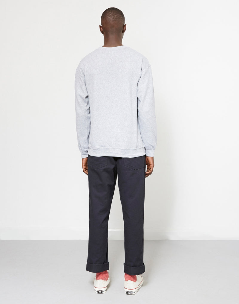 The Idle Man - Basic Sweatshirt Light Grey