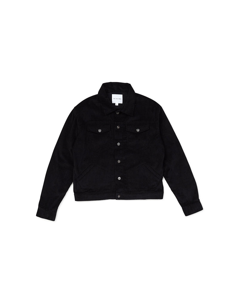 The Idle Man - Cord Worker Jacket Black