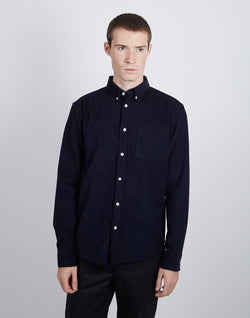 The Idle Man - Corduroy Shirt Navy