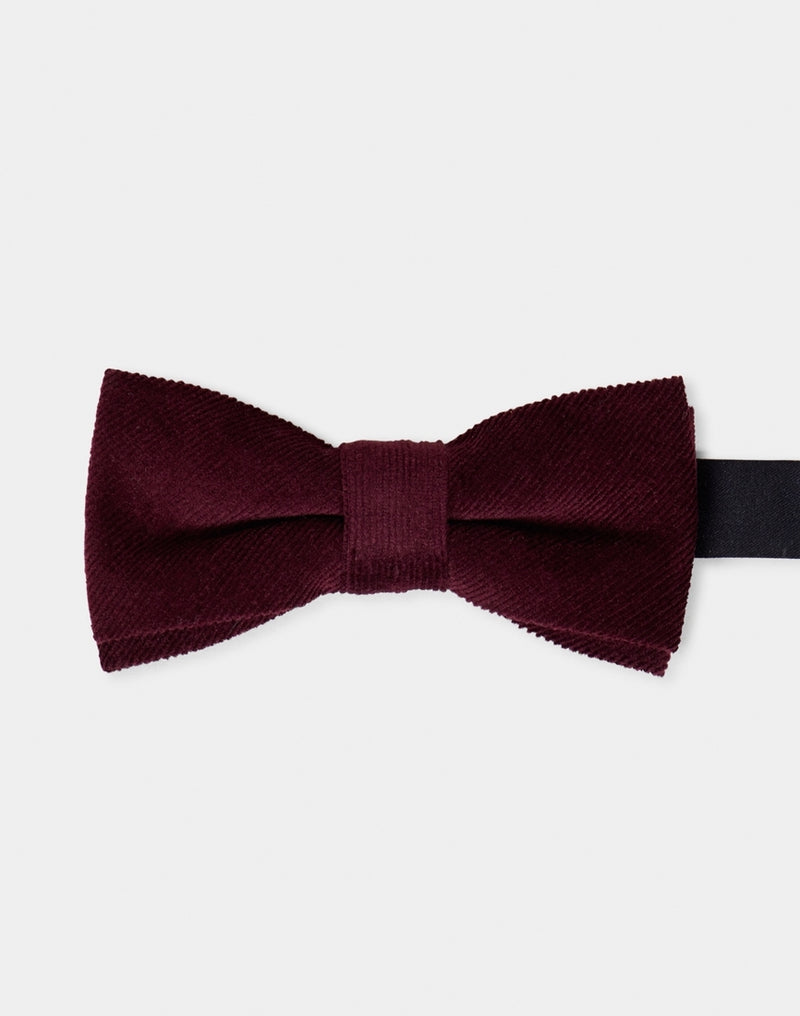 The Idle Man - D-Up Bow Tie Maroon