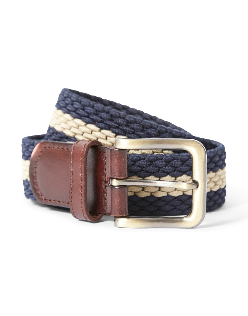 The Idle Man - Elastic Weave Belt Blue & Stone