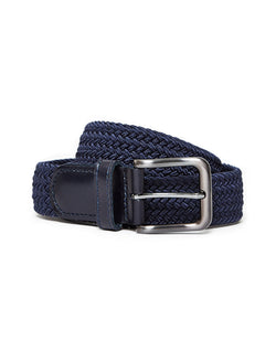 The Idle Man - Elastic Weave Belt Navy