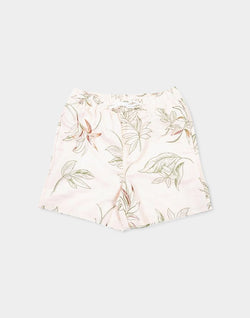 The Idle Man - Floral Print Swimshort Pink