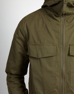 The Idle Man - Hooded Parka Jacket Green