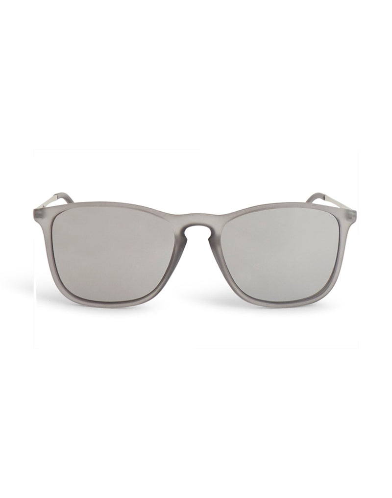 The Idle Man - Keyhole Square Lens Sunglasses Clear - Clear